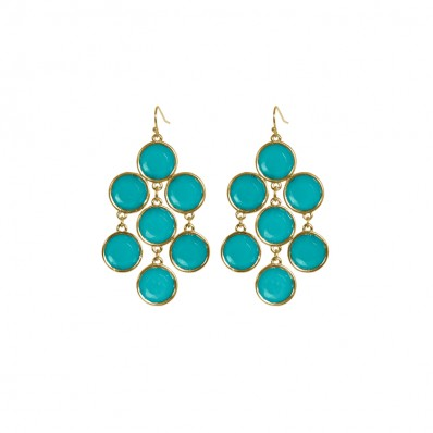 Eva Earrings Ocean Green