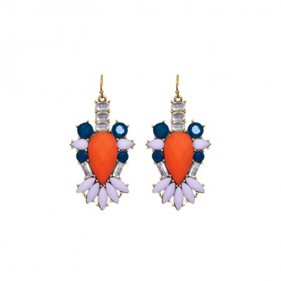Renny Earrings Orange Coral