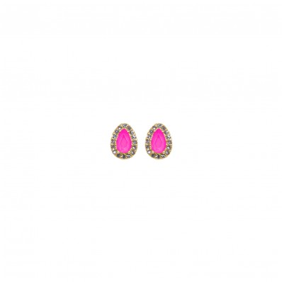 Sierra Earrings Neon Pink