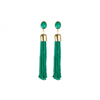 Eloise Earrings Green