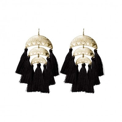 Meredyth Earrings Black