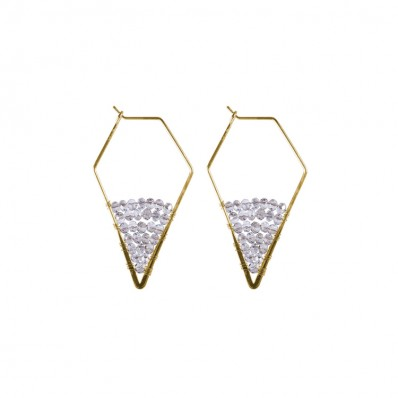 Shea Earrings Black Diamond