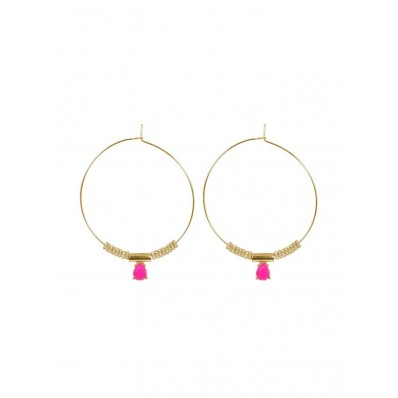 Macie Earrings Neon Pink
