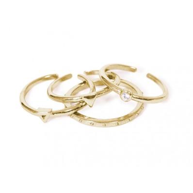 Kensi Ring Shiny Gold