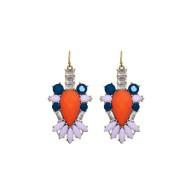 Renny Earrings Orange Coral
