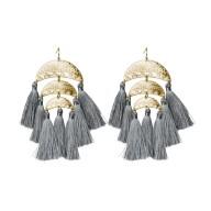 Meredyth Earrings Grey