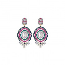Annie Earrings Fucshia