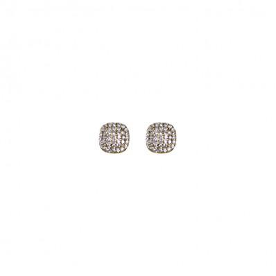 Abbie Ear Brass Ox/Crystal