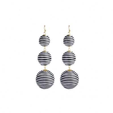 Bladen Earrings Black/White