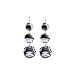 Bladen Earrings Black/White